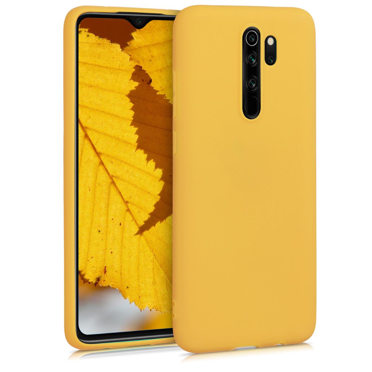 KW Θήκη Σιλικόνης Xiaomi Redmi Note 8 Pro - Honey Yellow (50242.143)