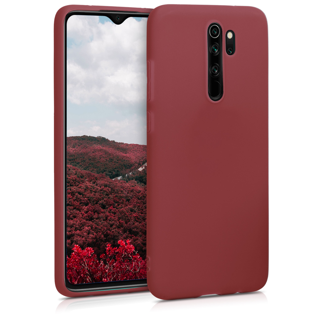 KW Θήκη Σιλικόνης Xiaomi Redmi Note 8 Pro - Maroon Red (50242.160)