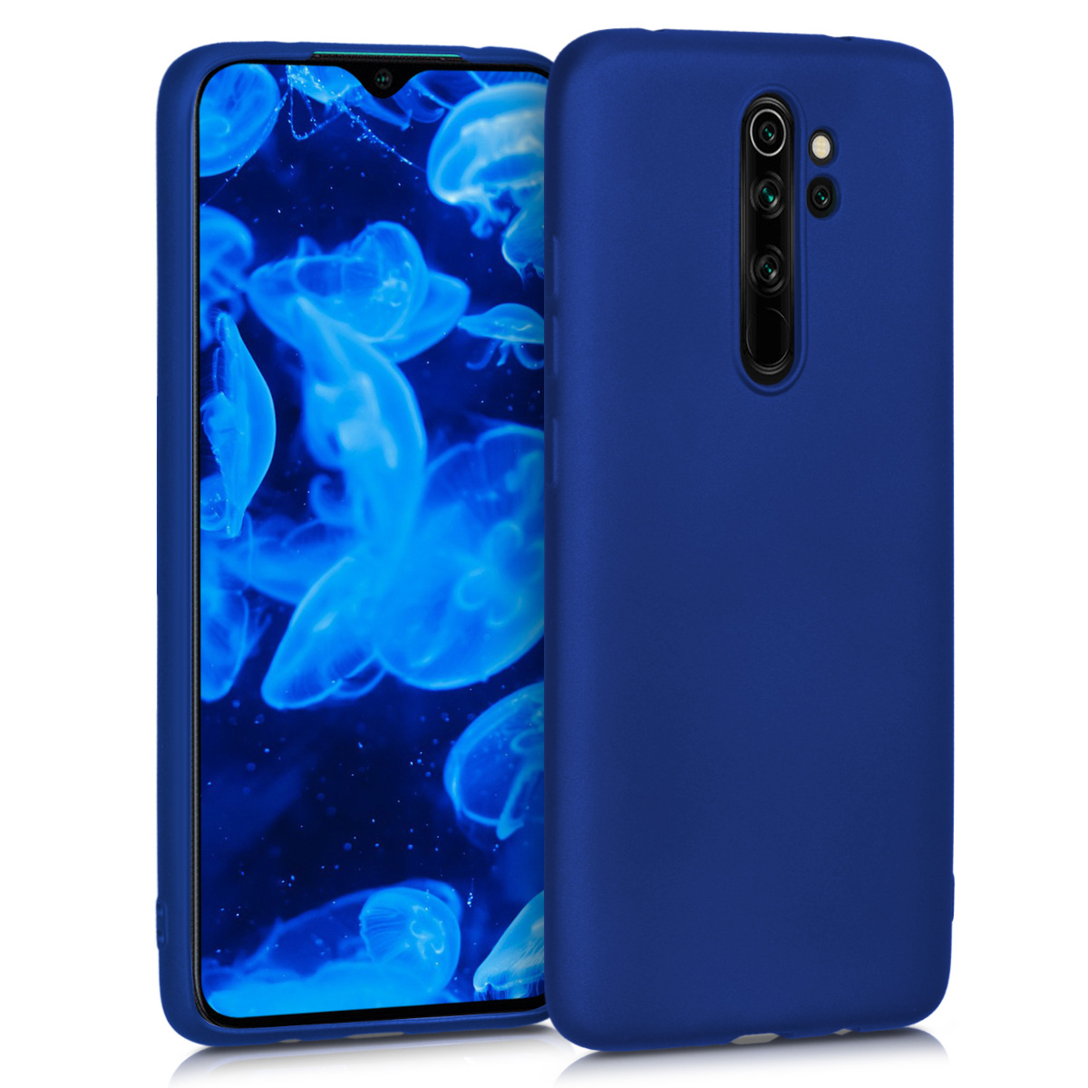 KW Θήκη Σιλικόνης Xiaomi Redmi Note 8 Pro - Metallic Blue (50243.64)