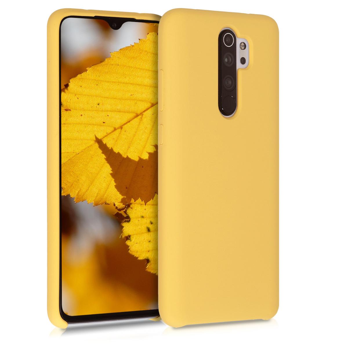 KW Θήκη Σιλικόνης Xiaomi Redmi Note 8 Pro - Soft Flexible Rubber - Pastel Yellow Matte (50248.119)
