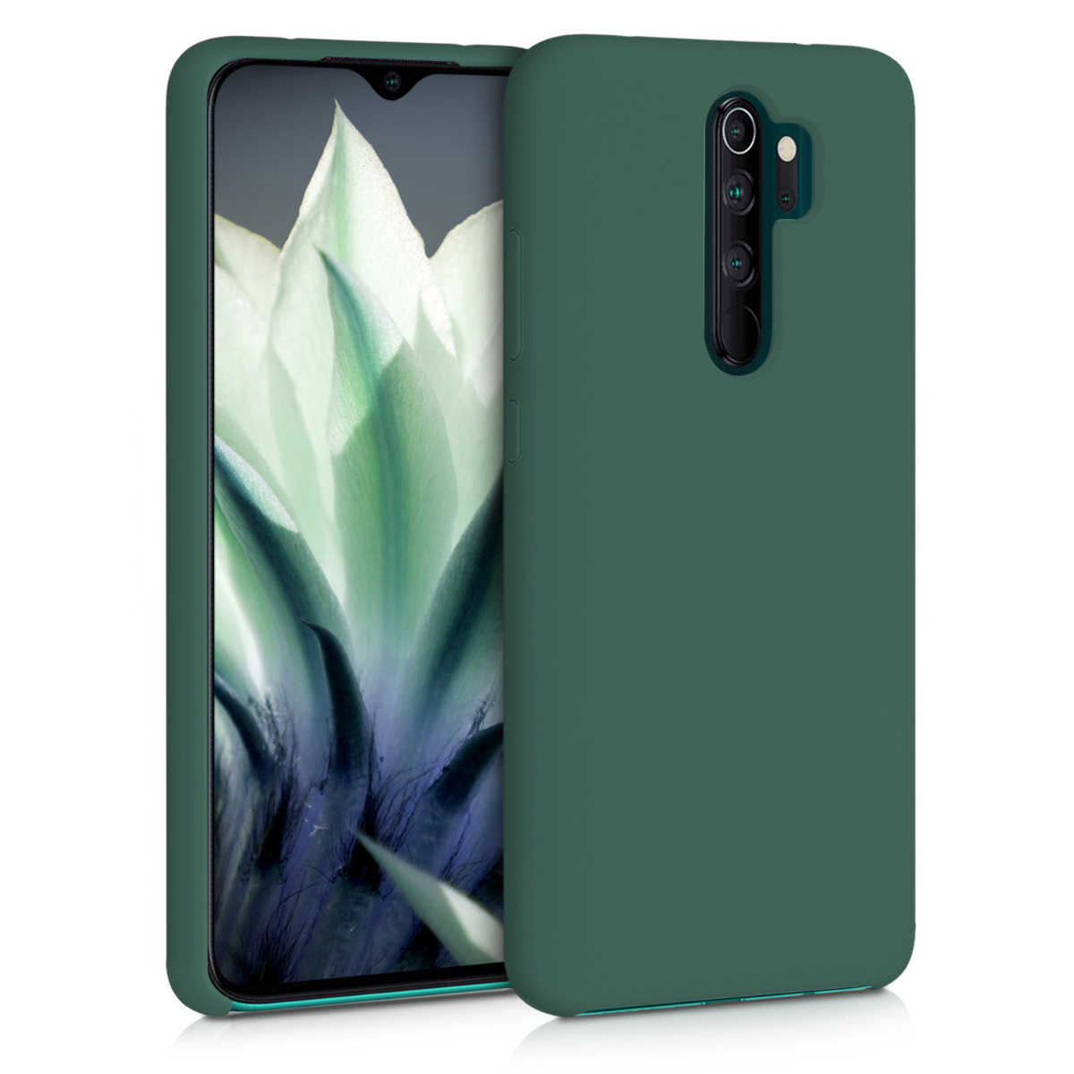 KW Θήκη Σιλικόνης Xiaomi Redmi Note 8 Pro - Soft Flexible Rubber Protective Cover - Forest Green (50248.166)