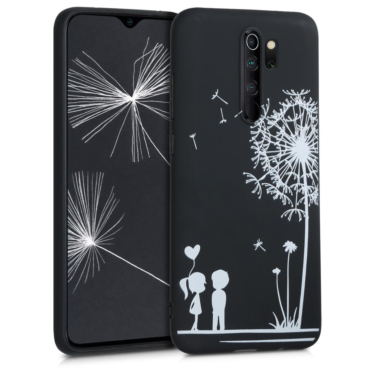 KW Θήκη Σιλικόνης Xiaomi Redmi Note 8 Pro - Dandelion Love - White / Black (50249.02)