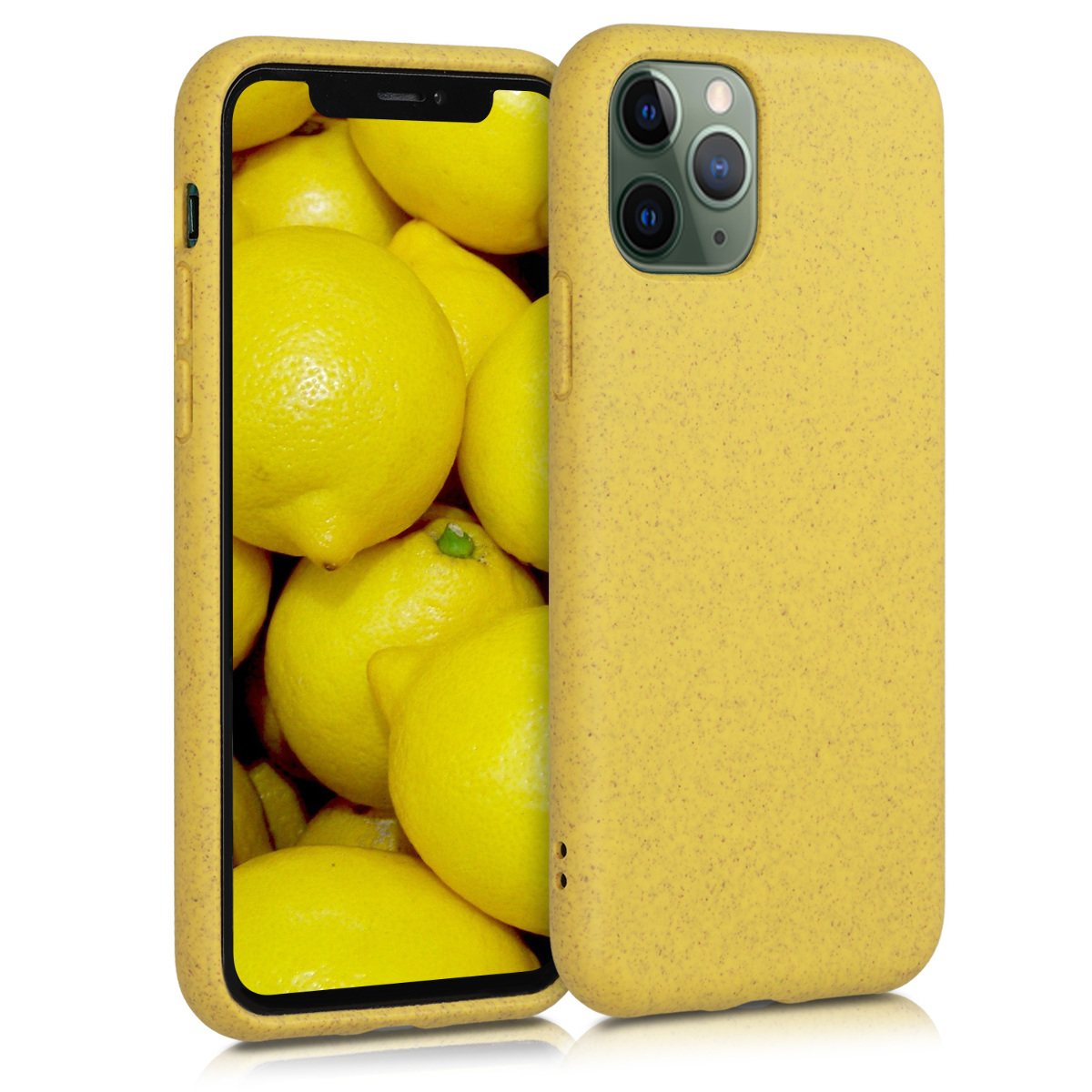 Kalibri Θήκη Σιλικόνης & Eco-Friendly Natural Wheat Straw Apple iPhone 11 Pro - Yellow (50316.06)