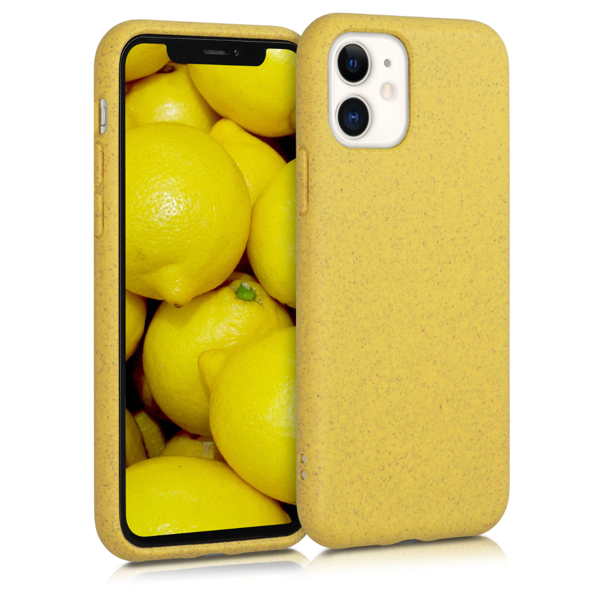 Kalibri Θήκη Σιλικόνης & Eco-Friendly Natural Wheat Straw Apple iPhone 11 - Yellow (50317.06)