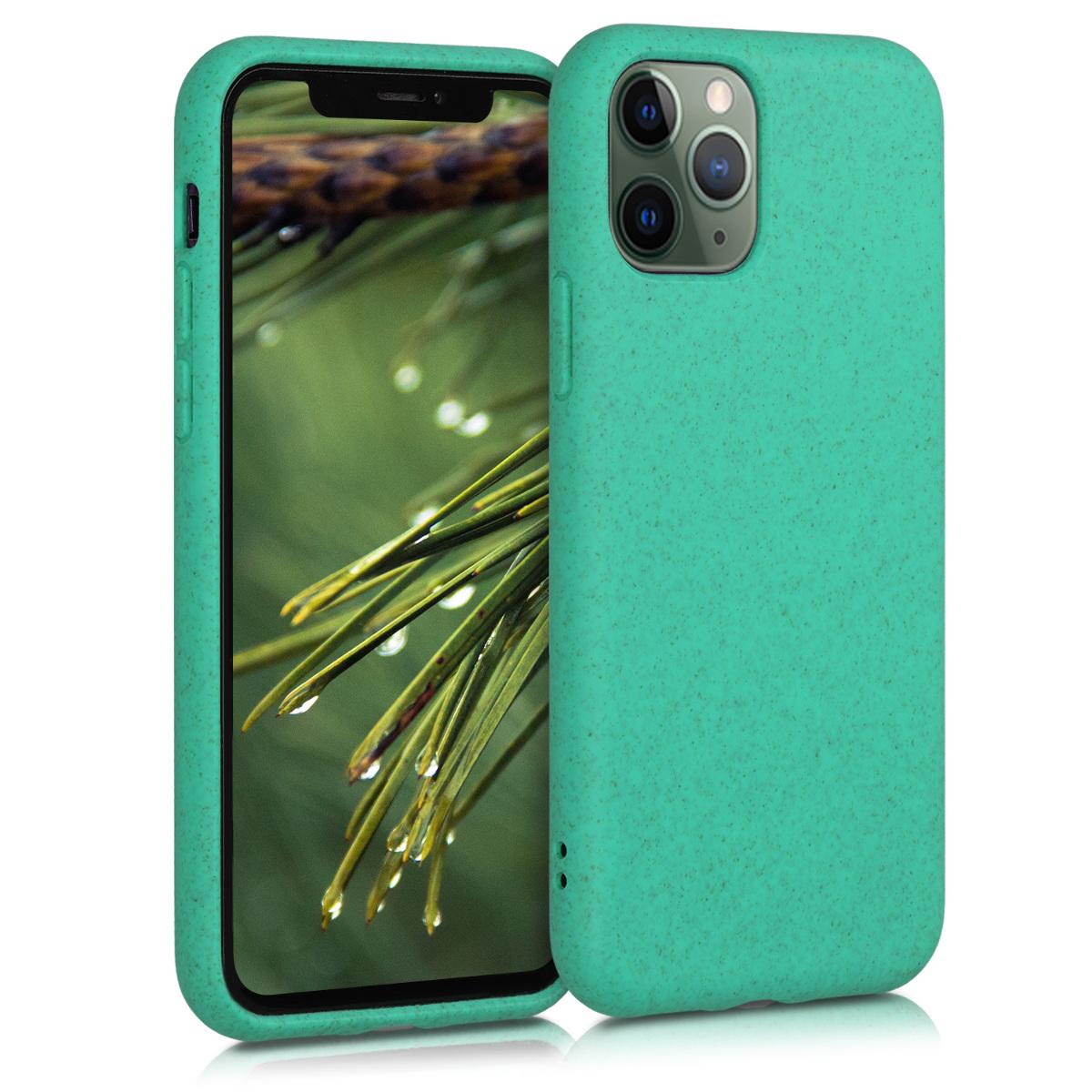 Kalibri Θήκη Σιλικόνης & Eco-Friendly Natural Wheat Straw Apple iPhone 11 Pro Max - Mint (50318.71)