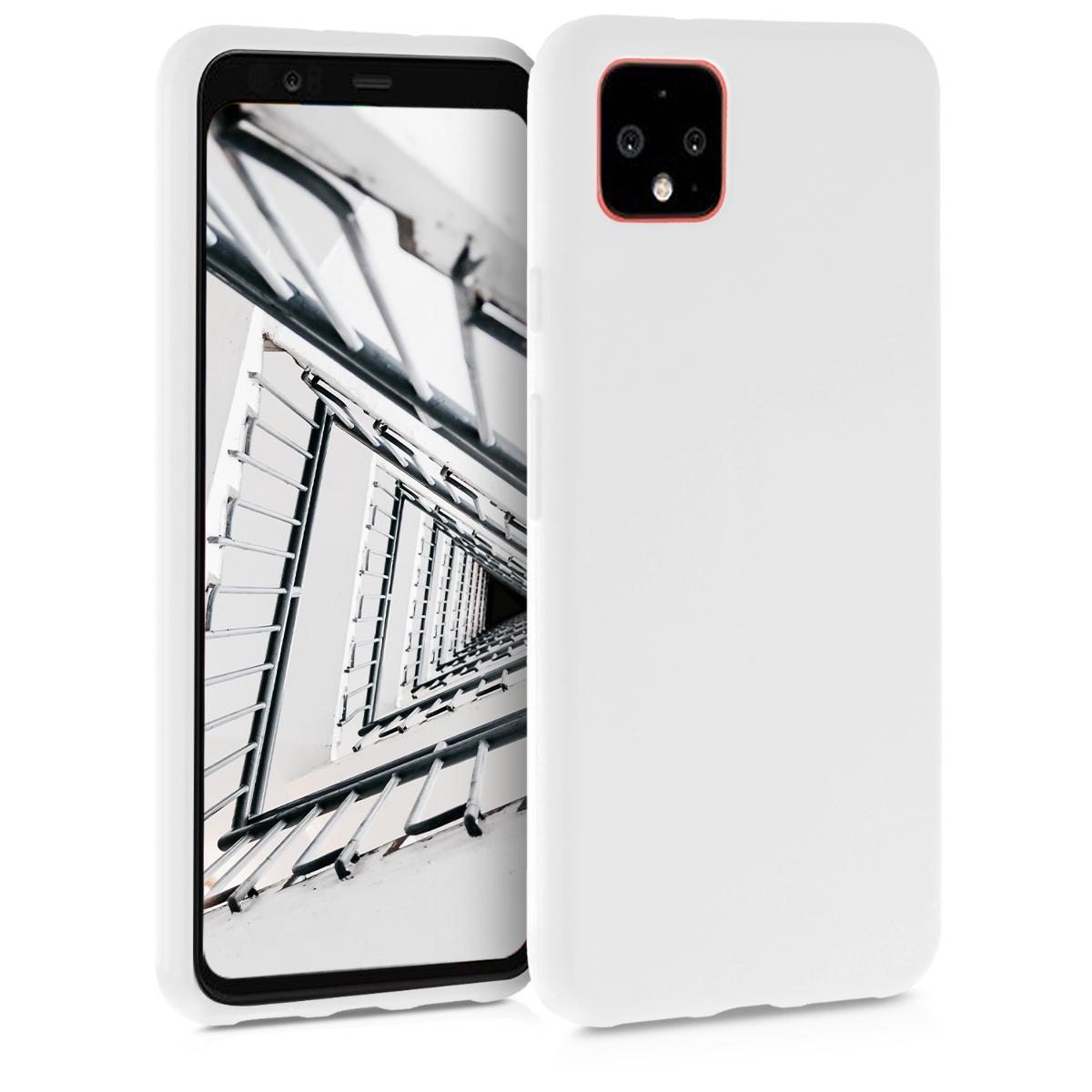 KW Θήκη Σιλικόνης Google Pixel 4 XL - White (50327.02)