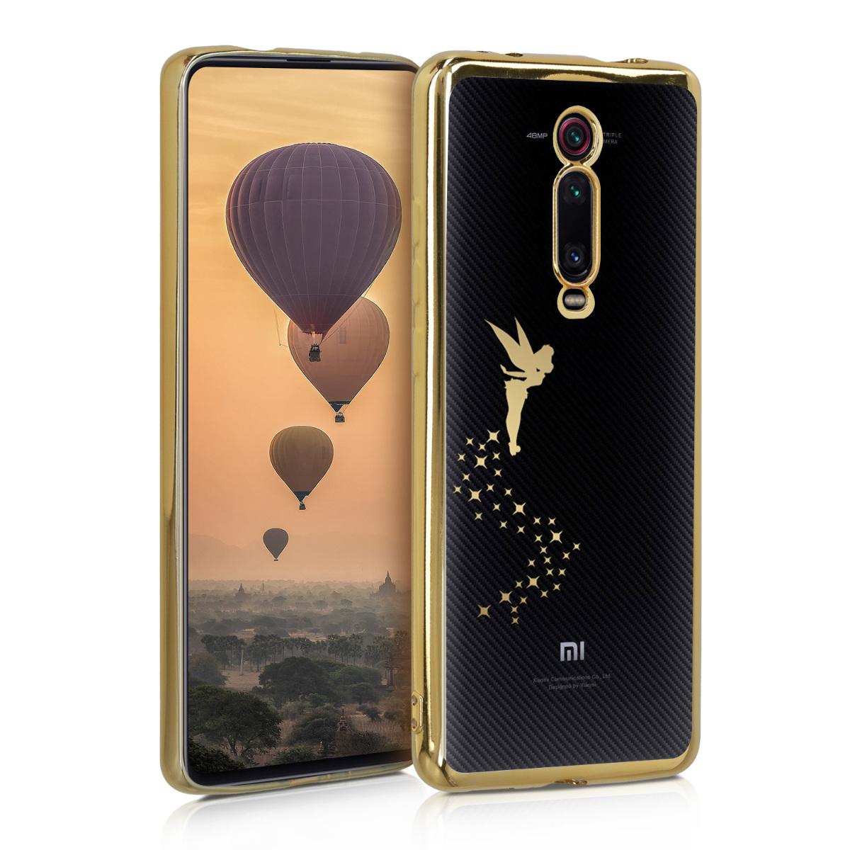 KW Θήκη Σιλικόνης Xiaomi Mi 9T / Redmi K20 Pro - Gold / Transparent (50374.01)