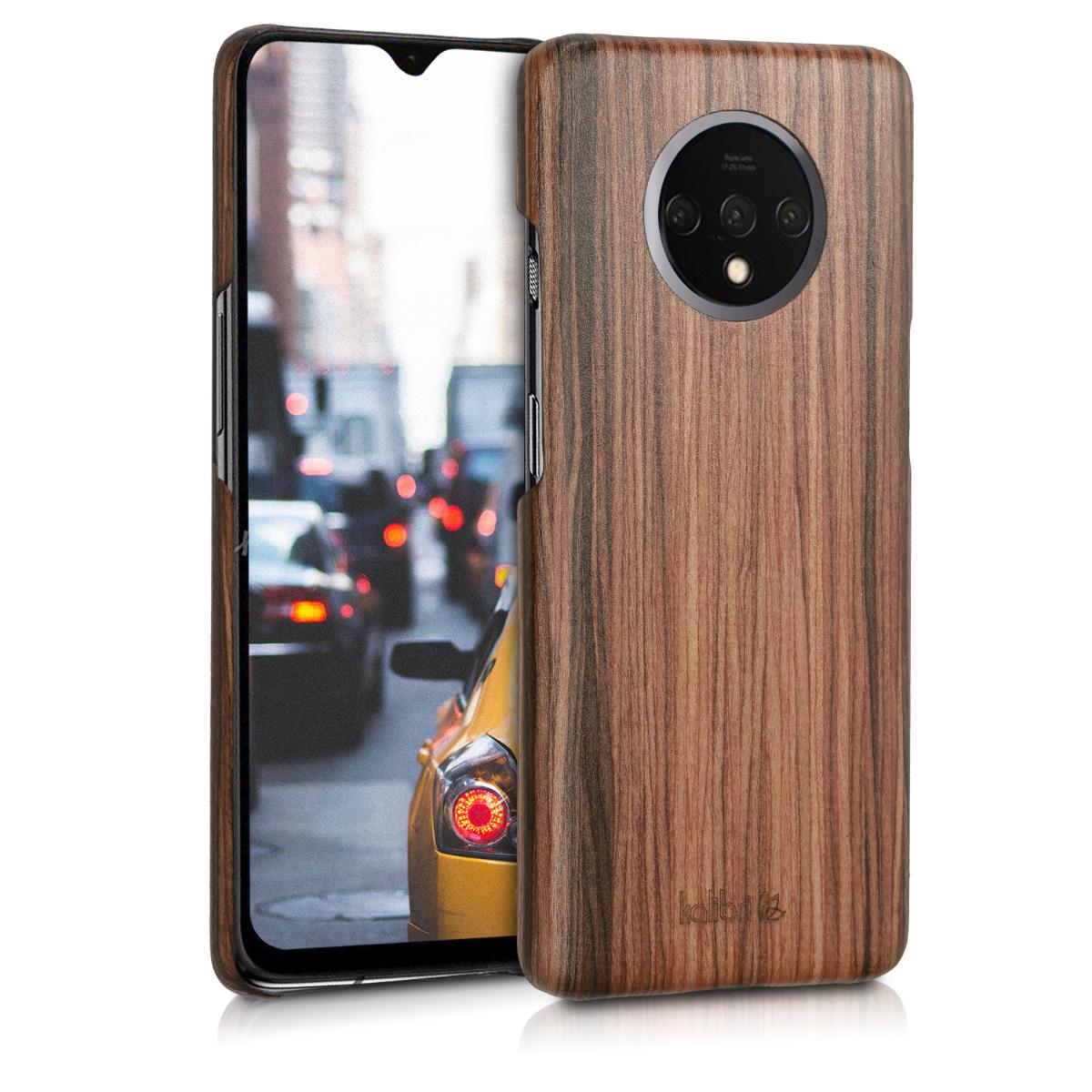 Kalibri Σκληρή Ξύλινη Θήκη OnePlus 7T - Brown (50405.05)