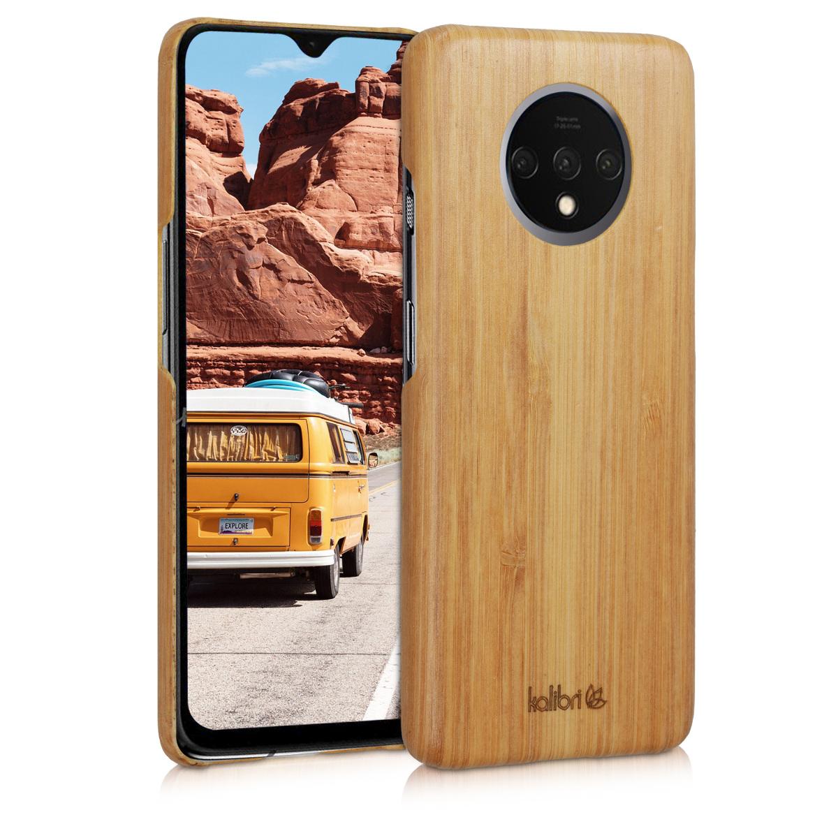Kalibri Σκληρή Ξύλινη Θήκη OnePlus 7T - Light Brown (50405.24)