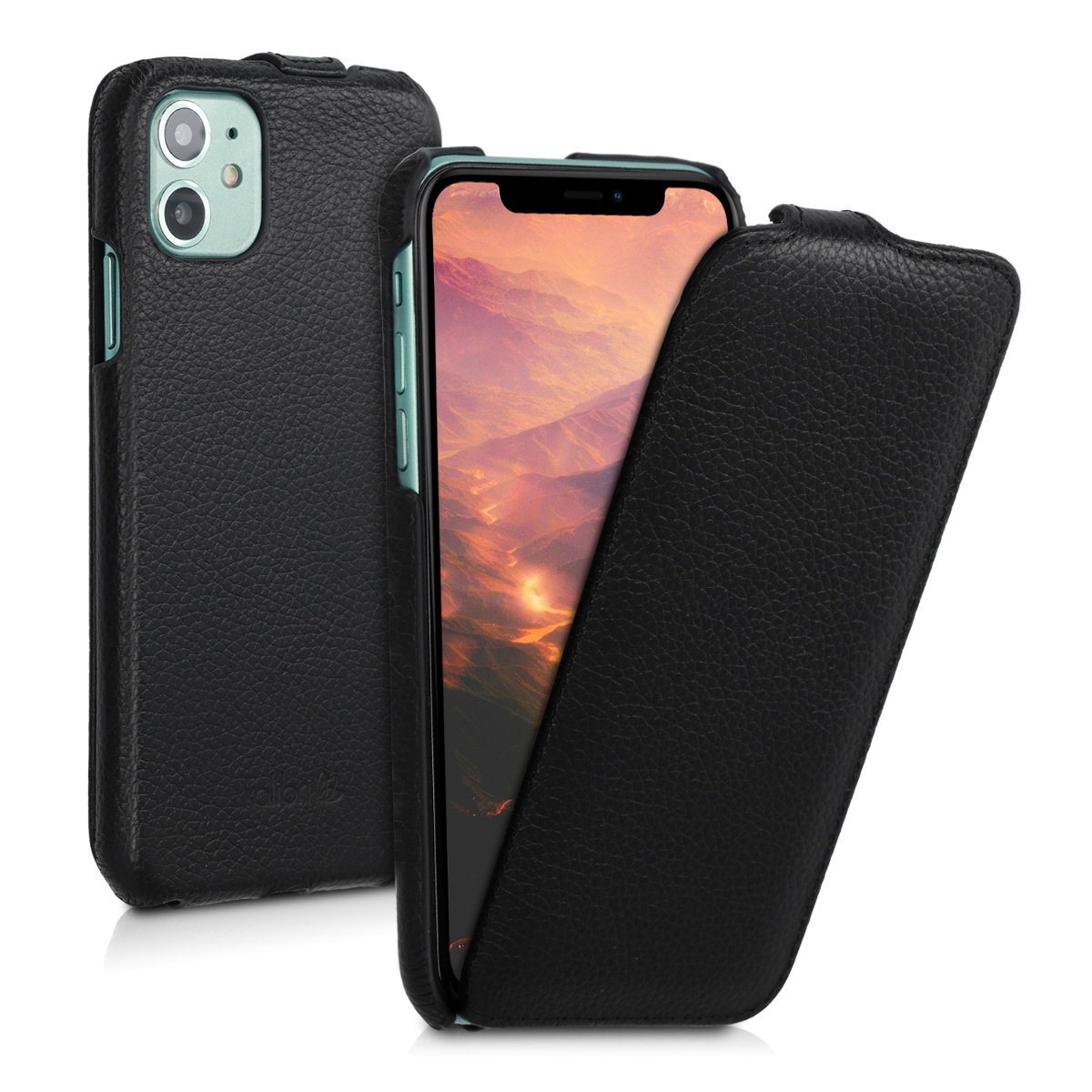 Kalibri Δερμάτινη Θήκη Flip Apple iPhone 11 - Ultra Slim Leather Protective Phone Cover - Black (50410.01)