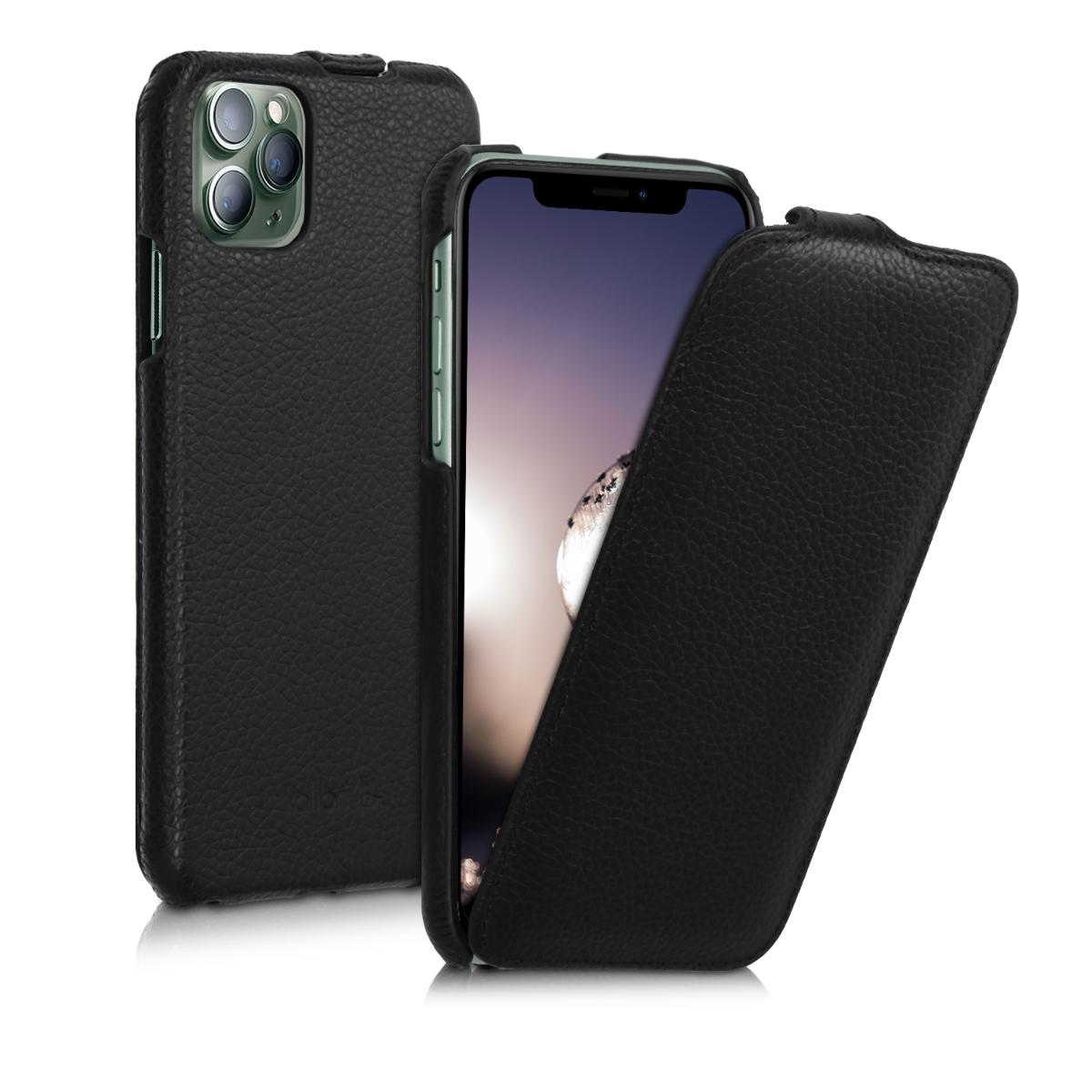 Kalibri Δερμάτινη Θήκη Flip Apple iPhone 11 Pro Max - Ultra Slim Leather Protective Phone Cover - Black (50411.01)