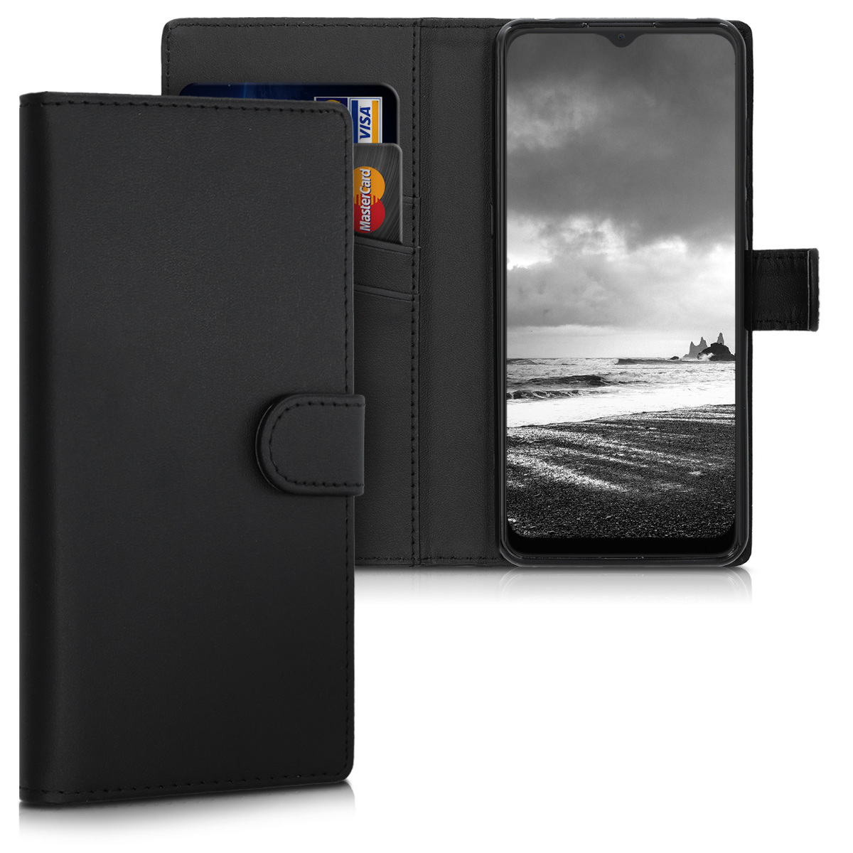 KW Θήκη - Πορτοφόλι Alcatel 3X 2019 - Protective PU Leather Flip Cover - Black (50512.01)