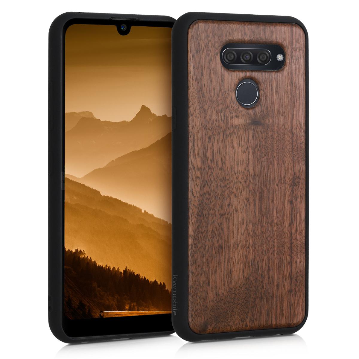 KW Σκληρή Ξύλινη Θήκη LG Q60 - Dark Brown (50518.18)