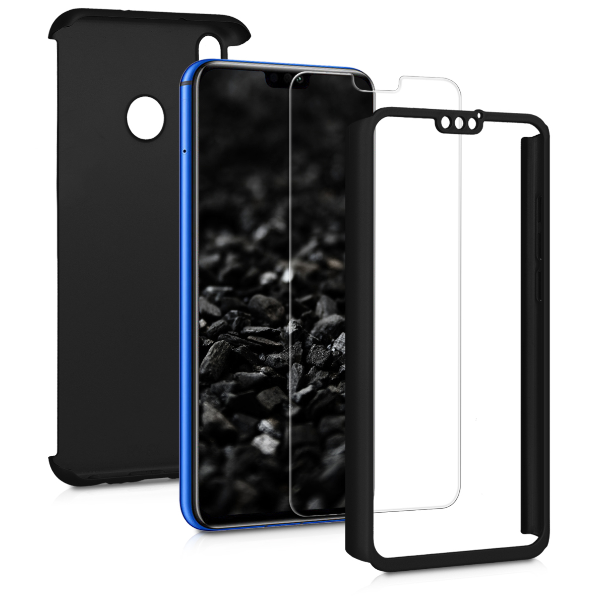 KW Θήκη Full Body Huawei Honor 8X & Tempered Glass - Metallic Black (50577.68)