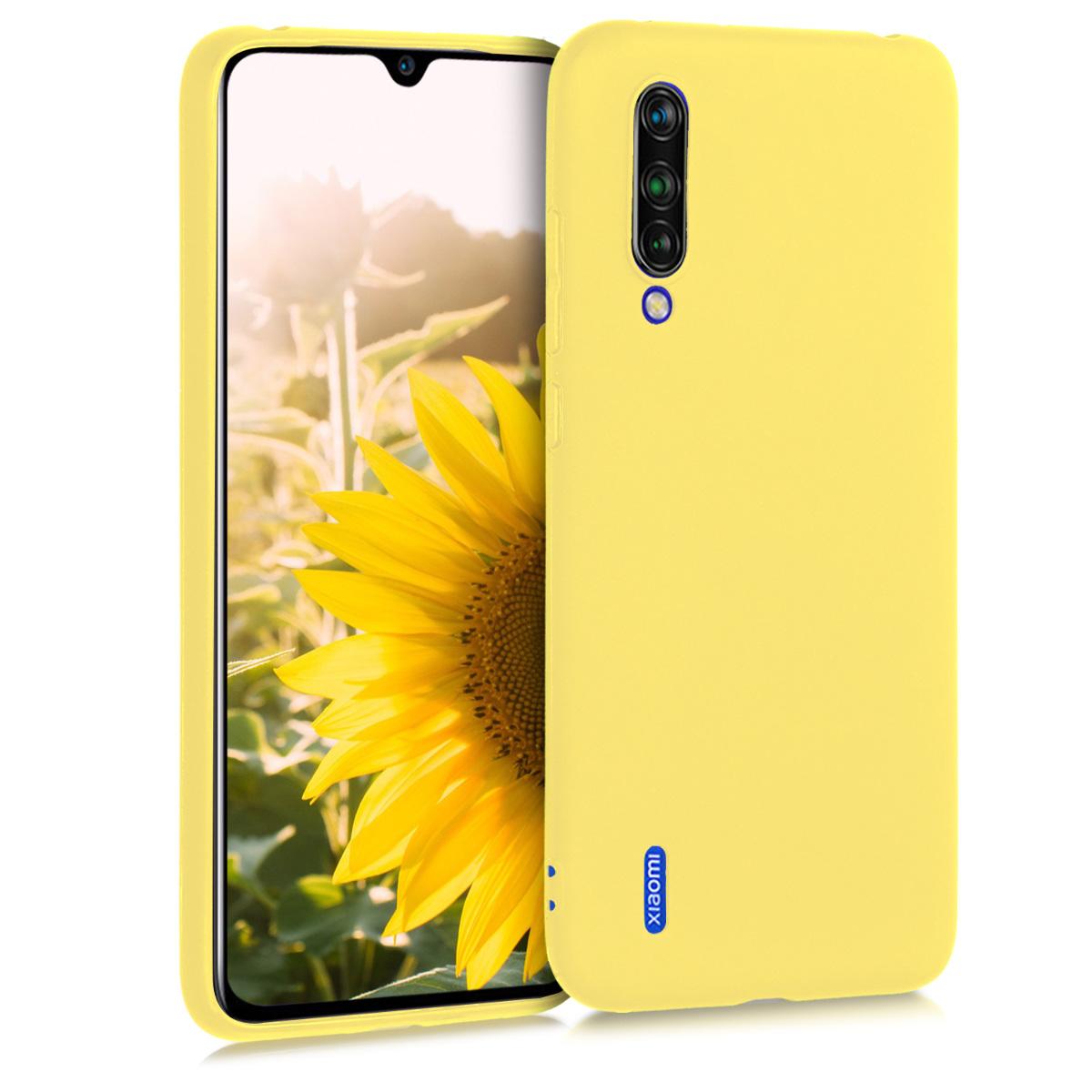 KW Θήκη Σιλικόνης Xiaomi Mi 9 Lite - Yellow Matte (50582.49)
