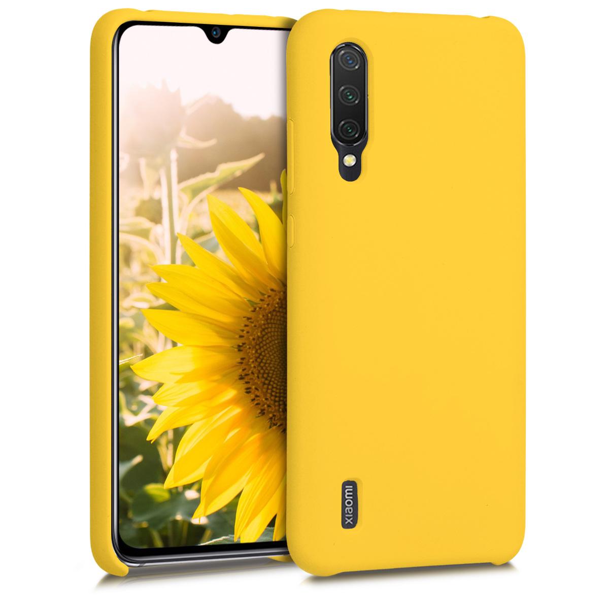KW Θήκη Σιλικόνης Xiaomi Mi 9 Lite - Soft Flexible Rubber Protective Cover - Honey Yellow (50585.143)