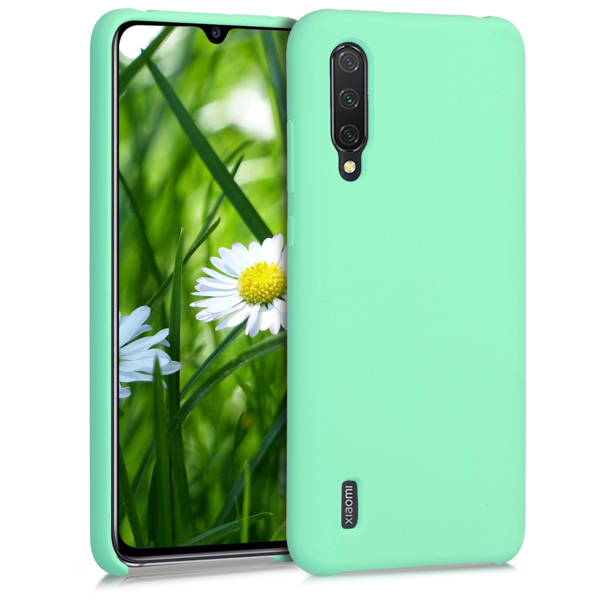 KW Θήκη Σιλικόνης Xiaomi Mi 9 Lite - Soft Flexible Rubber Protective Cover - Peppermint Green (50585.147)