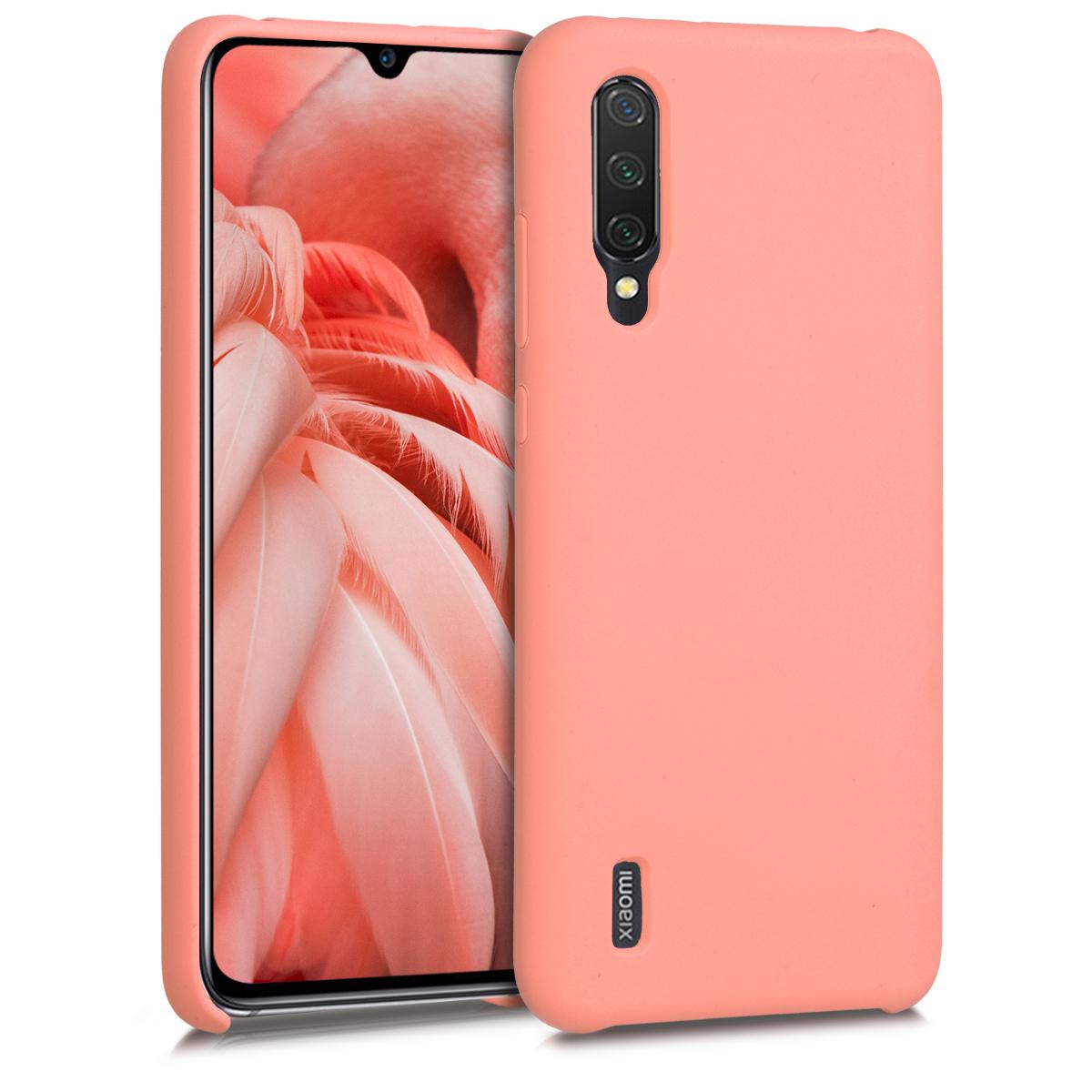 KW Θήκη Σιλικόνης Xiaomi Mi 9 Lite - Soft Flexible Rubber - Coral Matte (50585.56)