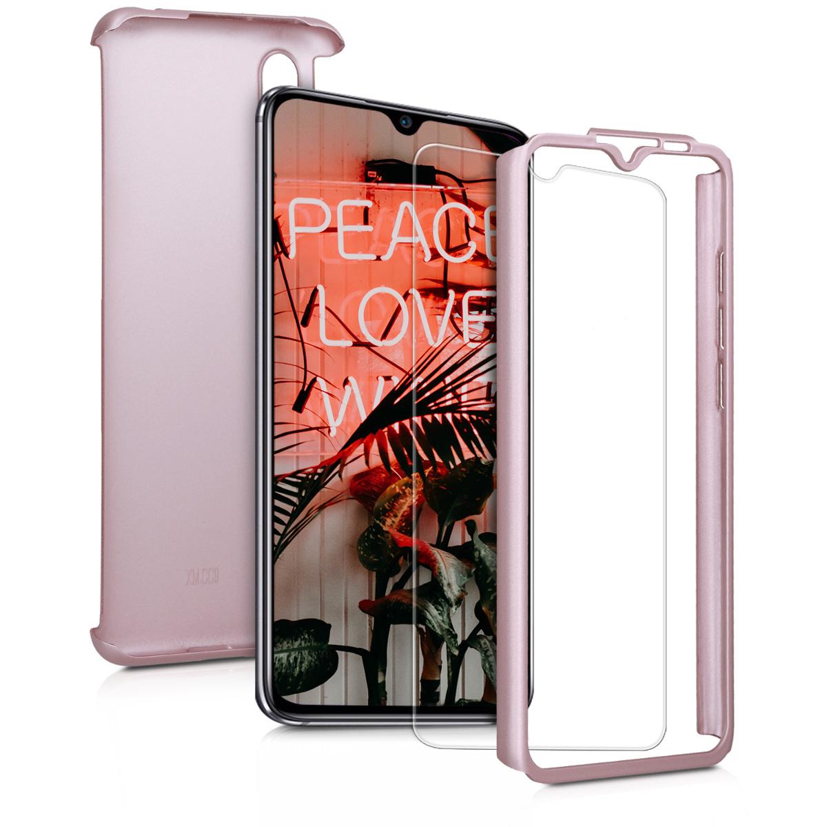 KW Full Body Θήκη Xiaomi Mi 9 Lite & Tempered Glass - Metallic Rose Gold (50586.31)