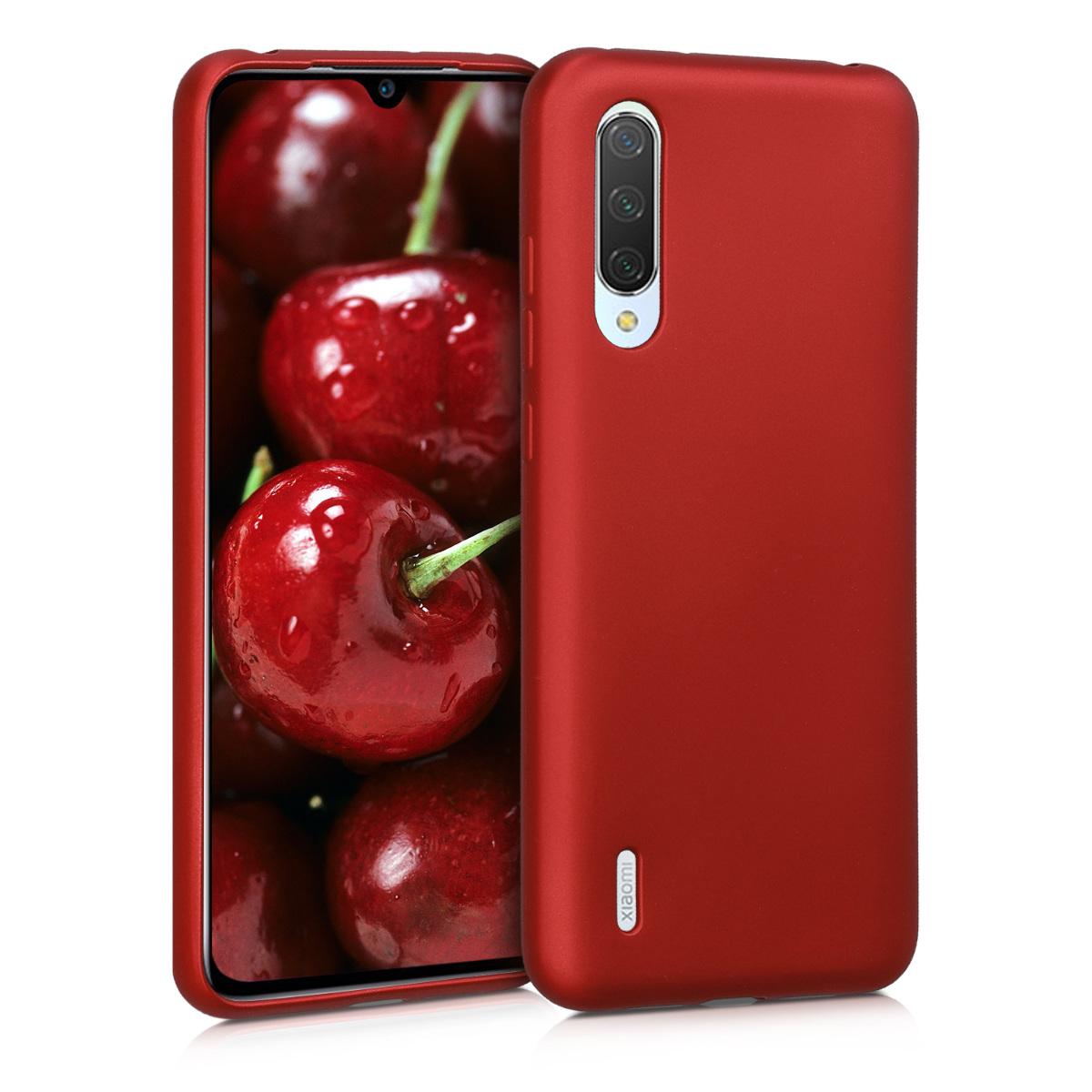 KW Θήκη Σιλικόνης Xiaomi Mi 9 Lite - Metallic Dark Red (50587.36)