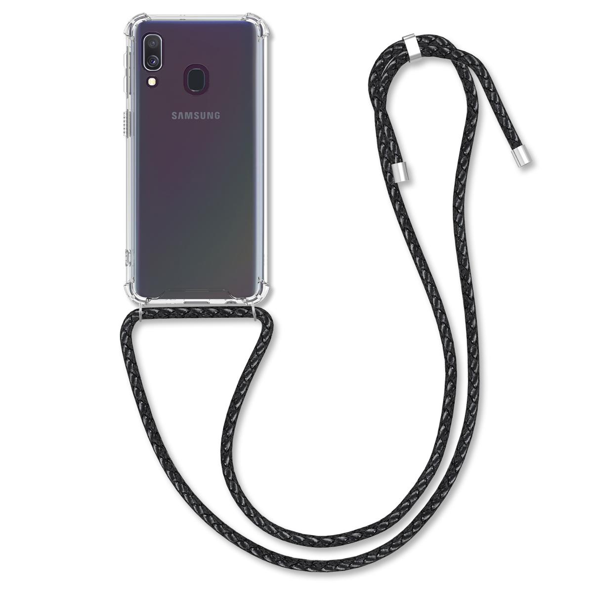 KW Θήκη Σιλικόνης με Λουράκι Λαιμού Samsung Galaxy A40 - Clear (50591.01)