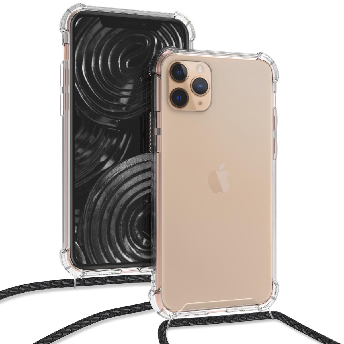 KW Θήκη Σιλικόνης με Λουράκι Λαιμού Apple iPhone 11 Pro - Transparent (50635.03)