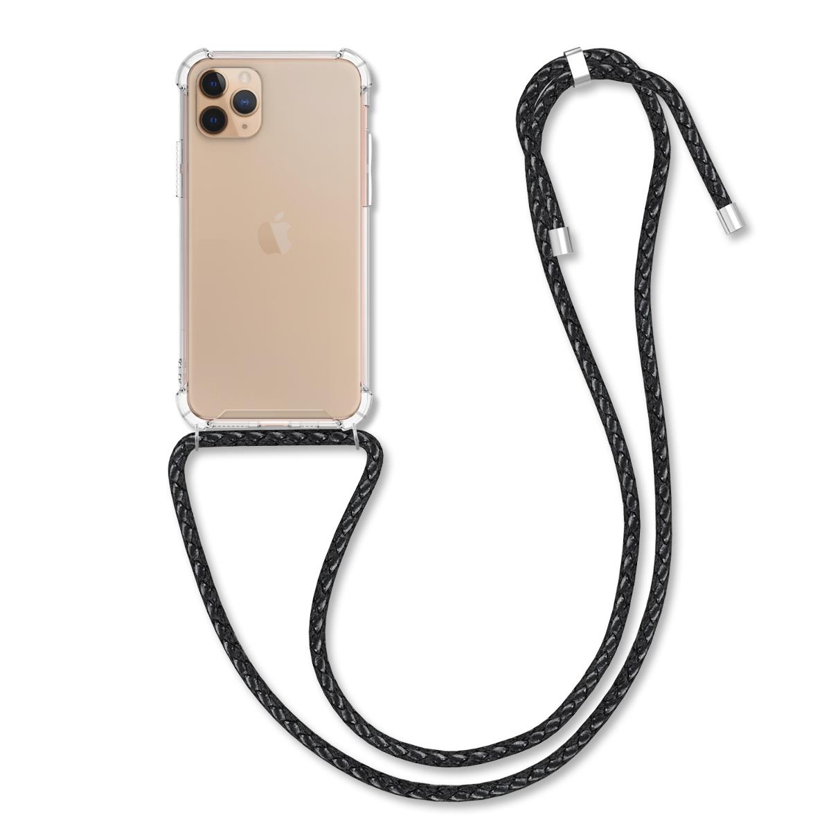 KW Θήκη Σιλικόνης με Λουράκι Λαιμού Apple iPhone 11 Pro Max - Clear (50637.03)