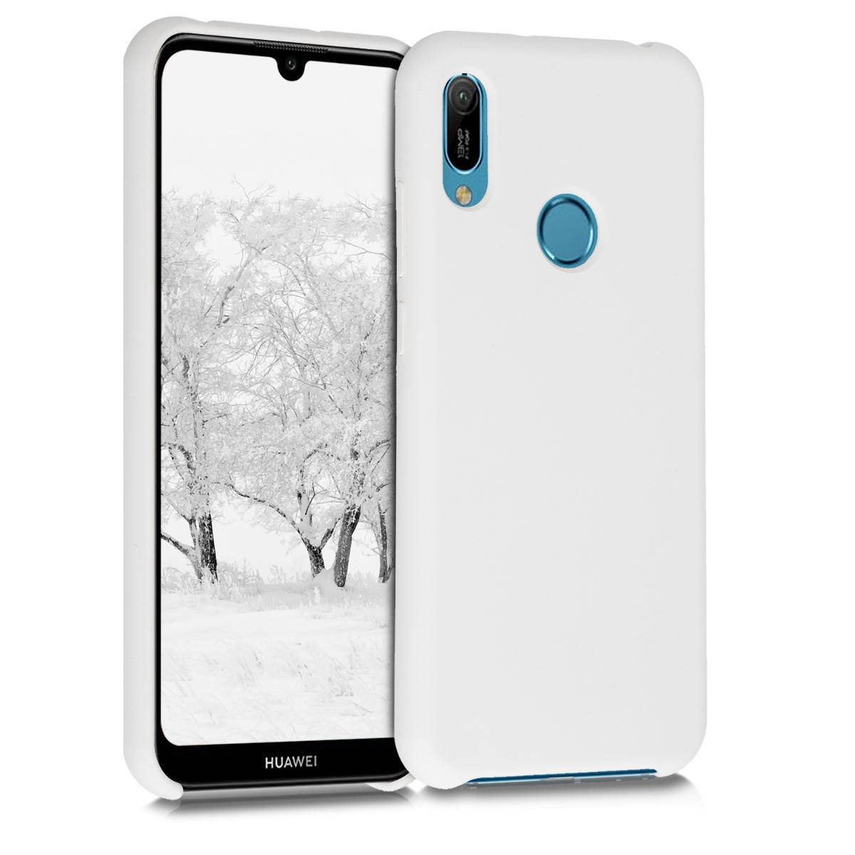 KW Θήκη Σιλικόνης Huawei Y6 2019 - Soft Flexible Rubber - White (50685.02)