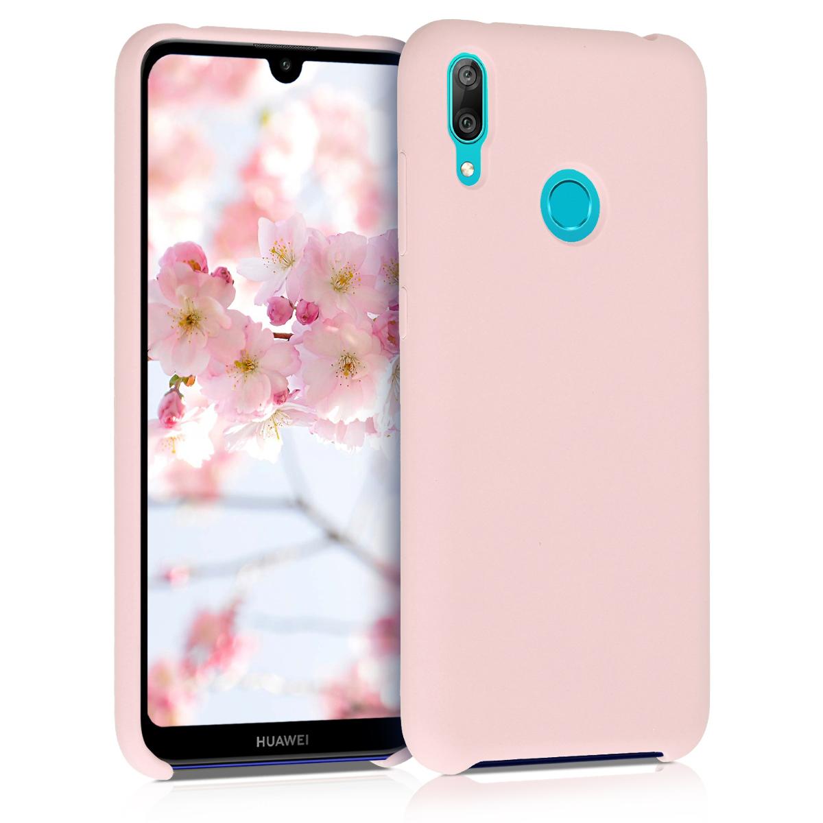 KW Θήκη Σιλικόνης Huawei Y7 2019 / Y7 Prime 2019 - Soft Flexible Rubber - Dusty Pink (50686.10)