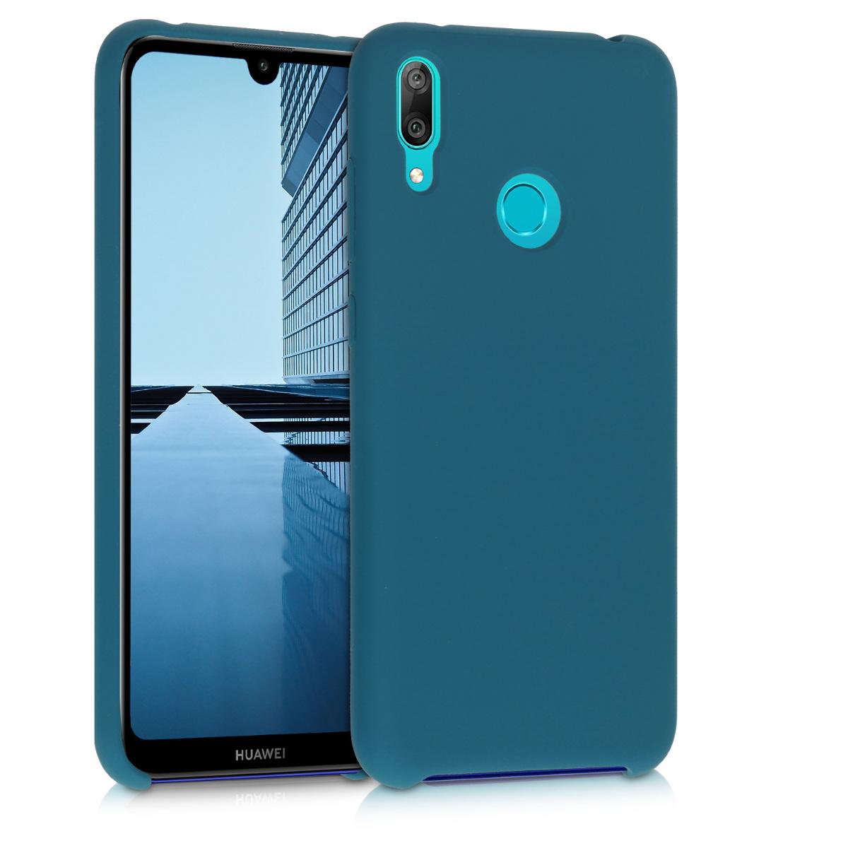 KW Θήκη Σιλικόνης Huawei Y7 2019 / Y7 Prime 2019 - Soft Flexible Rubber - Teal Matte (50686.57)