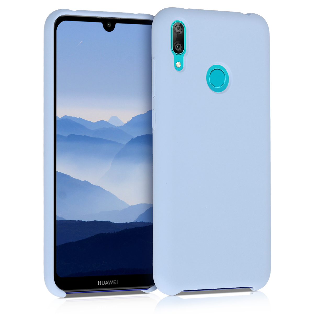 KW Θήκη Σιλικόνης Huawei Y7 2019 / Y7 Prime 2019 - Soft Flexible Rubber - Light Blue Matte (50686.58)