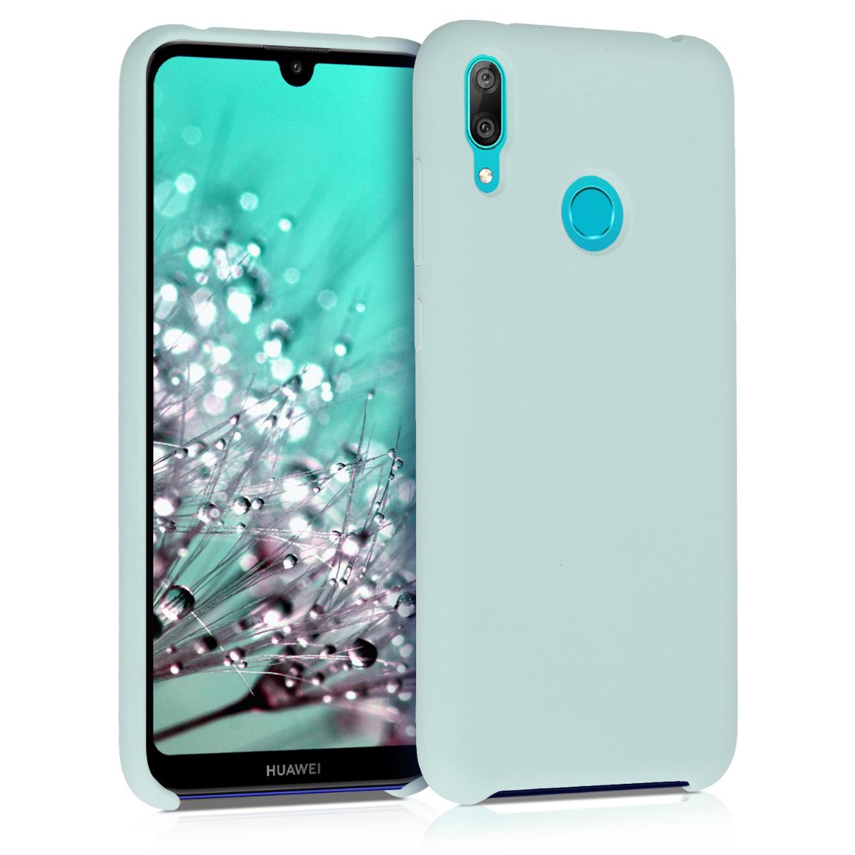 KW Θήκη Σιλικόνης Huawei Y7 / Y7 Prime 2019 - Soft Flexible Rubber - Mint (50686.71)