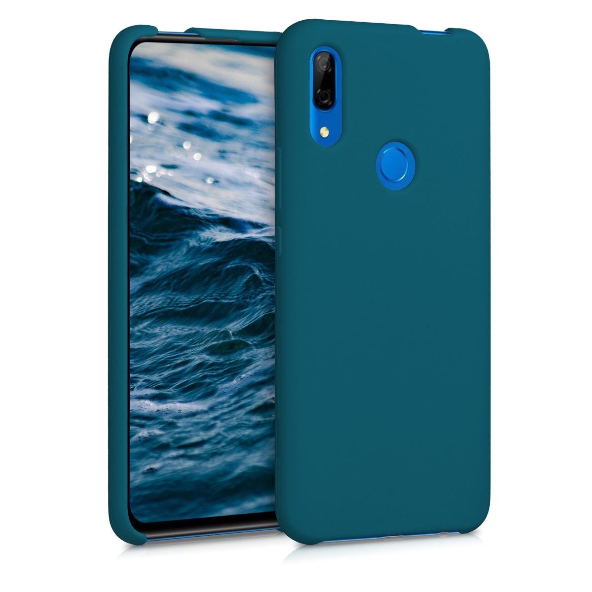 kwmobile TPU Silicone Case for Huawei P Smart Z - Soft Flexible Rubber Protective Cover - Teal Matte