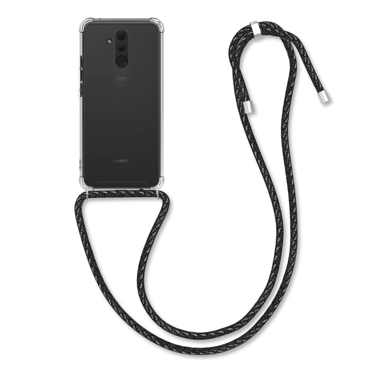 KW Θήκη Σιλικόνης με Λουράκι Λαιμού Huawei Mate 20 Lite - Clear (50740.01)