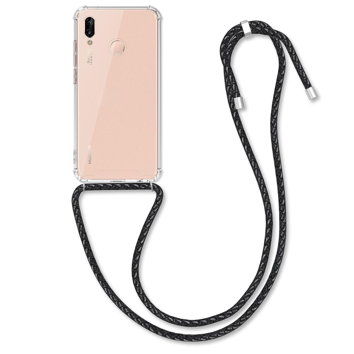 KW Θήκη Σιλικόνης με Λουράκι Λαιμού Huawei P20 Lite - Clear (50741.01)