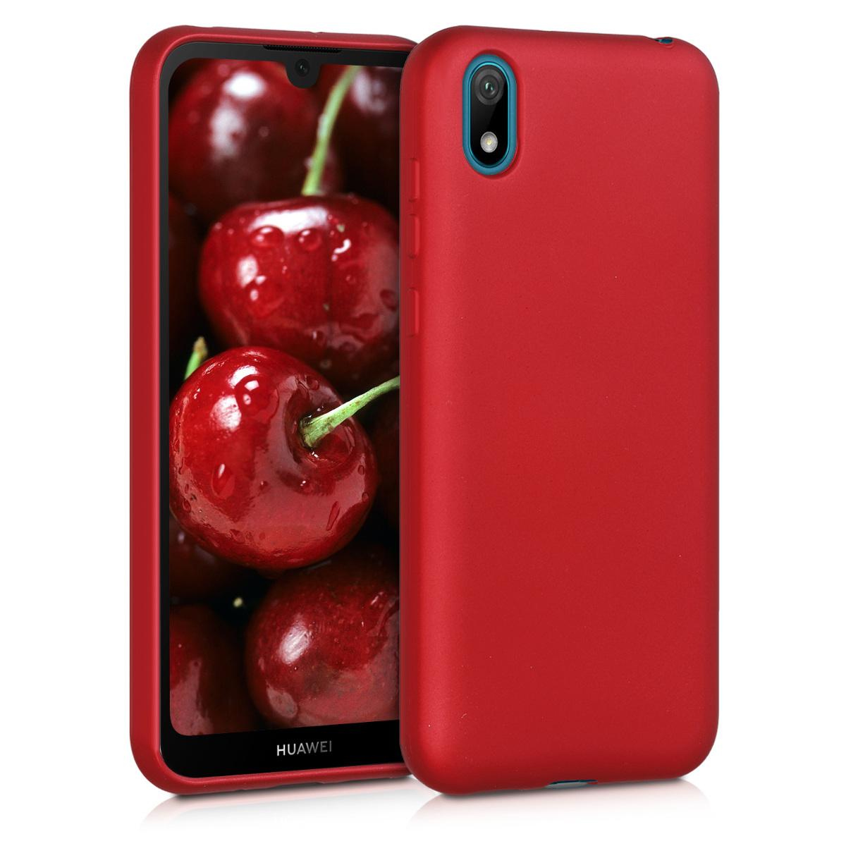 KW Θήκη Σιλικόνης Huawei Y5 2019 - Metallic Dark Red (50749.36)