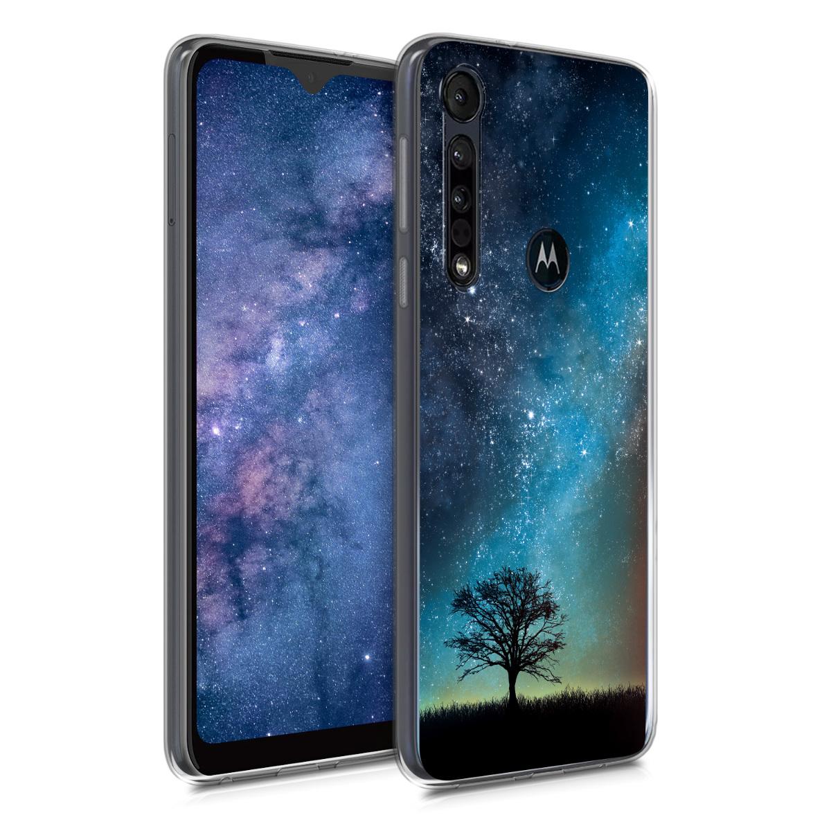 KW Θήκη Σιλικόνης Motorola One Macro - Cosmic Nature - Blue / Grey / Black (50794.01)
