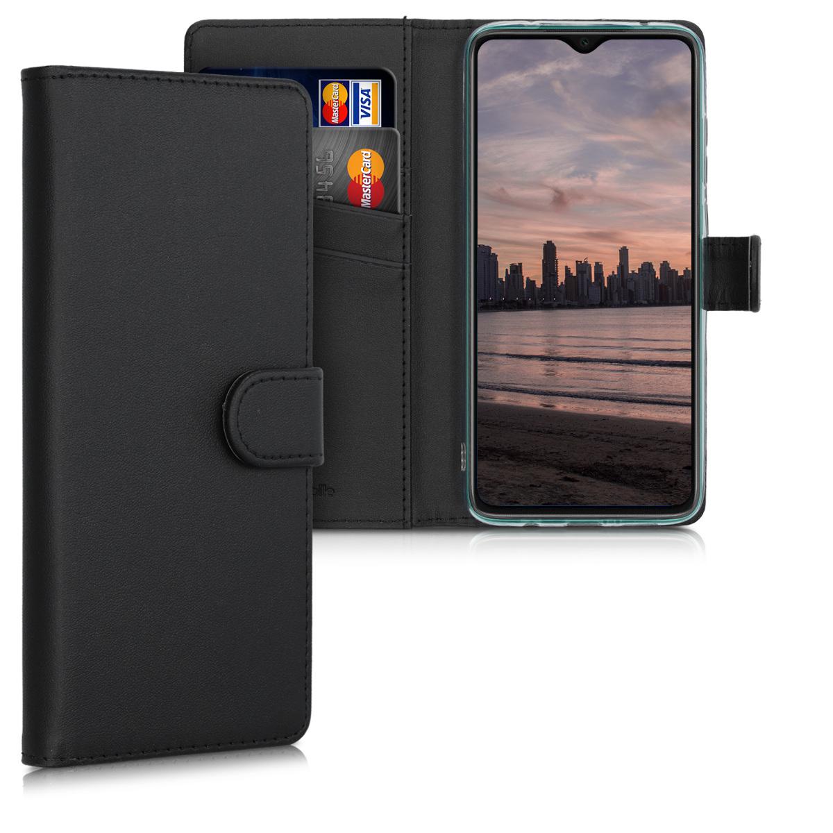 KW Θήκη - Πορτοφόλι Xiaomi Redmi Note 8 Pro - Protective PU Leather Flip Cover - Black (50837.01)