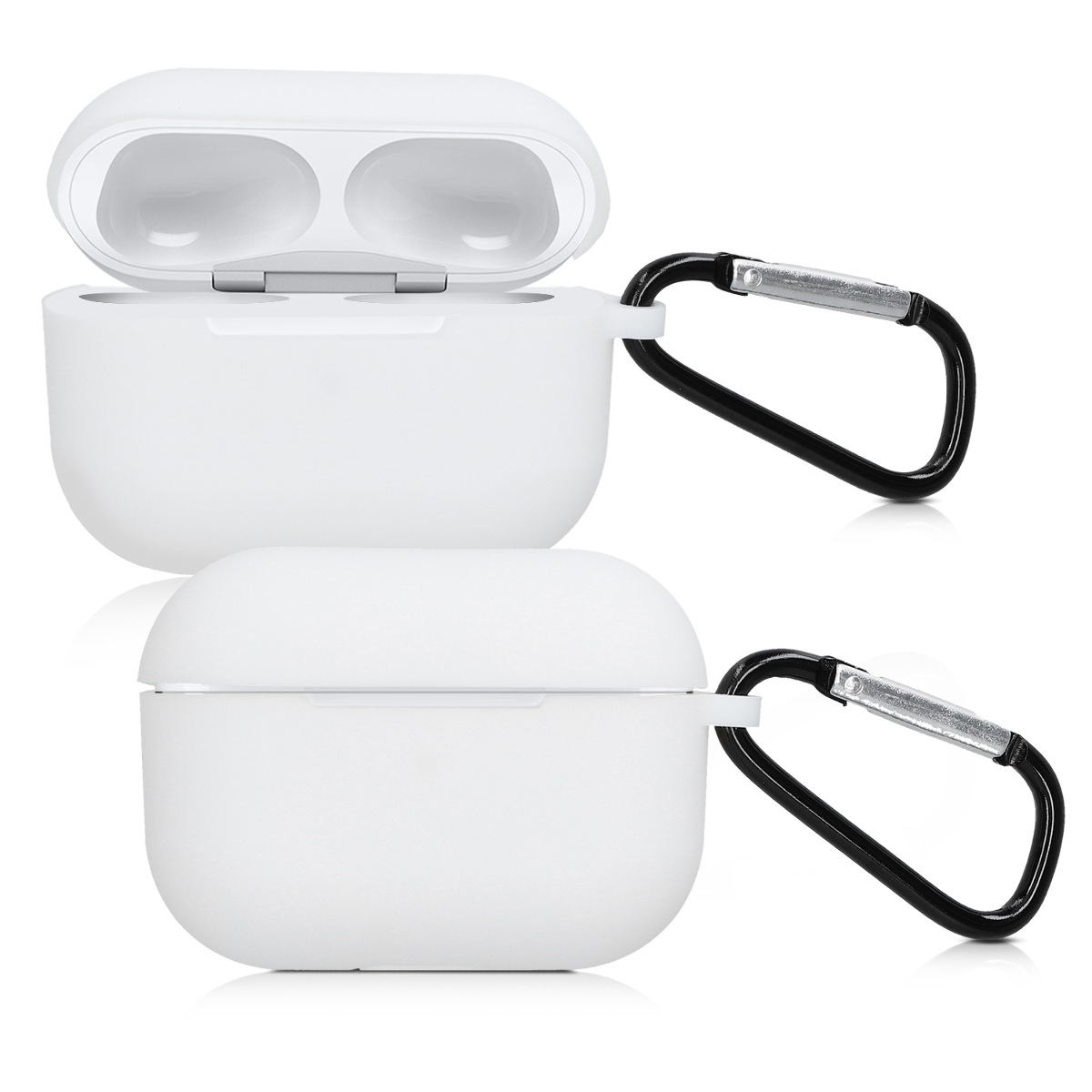 KW Θήκη Σιλικόνης για Apple AirPods Pro - White (50935.02)