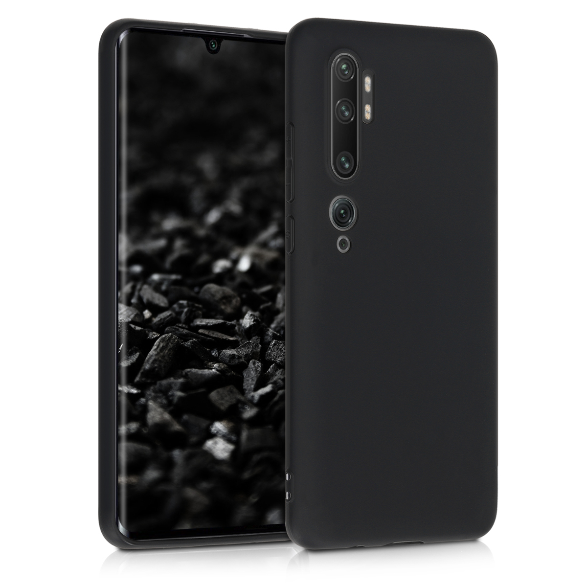 KW Θήκη Σιλικόνης Xiaomi Mi Note 10 / Note 10 Pro - Black Matte (50948.50)
