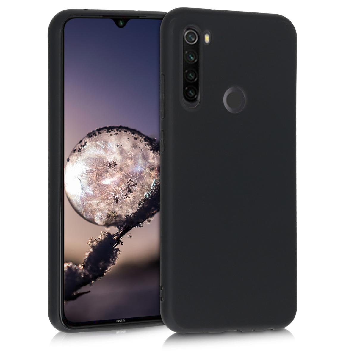 KW Θήκη Σιλικόνης Xiaomi Redmi Note 8T - Black Matte (50956.47)