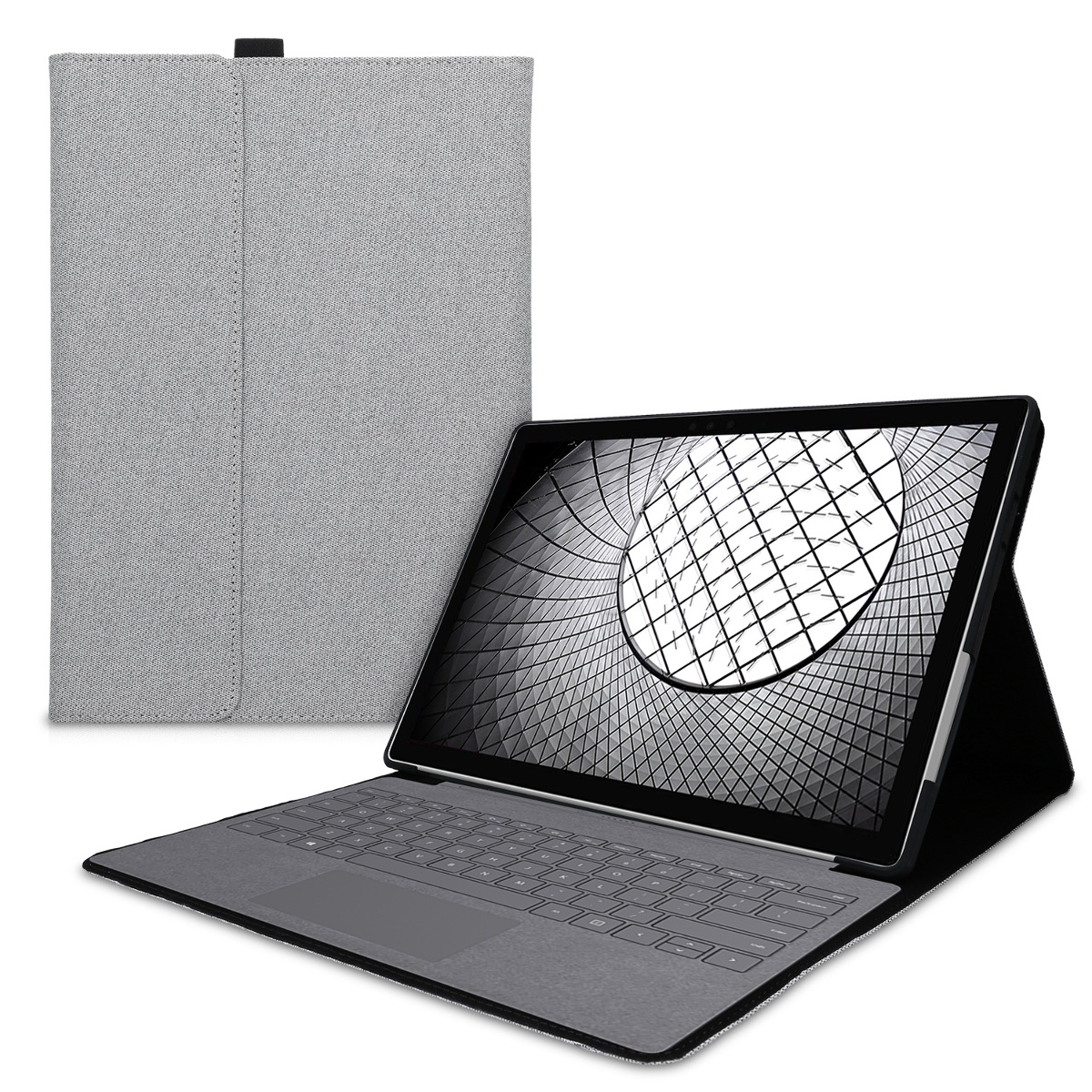 KW Θήκη Flip Microsoft Surface Pro 7 - Built-In Stand and Compatible with Type Cover Keyboard - Grey (50977.01)