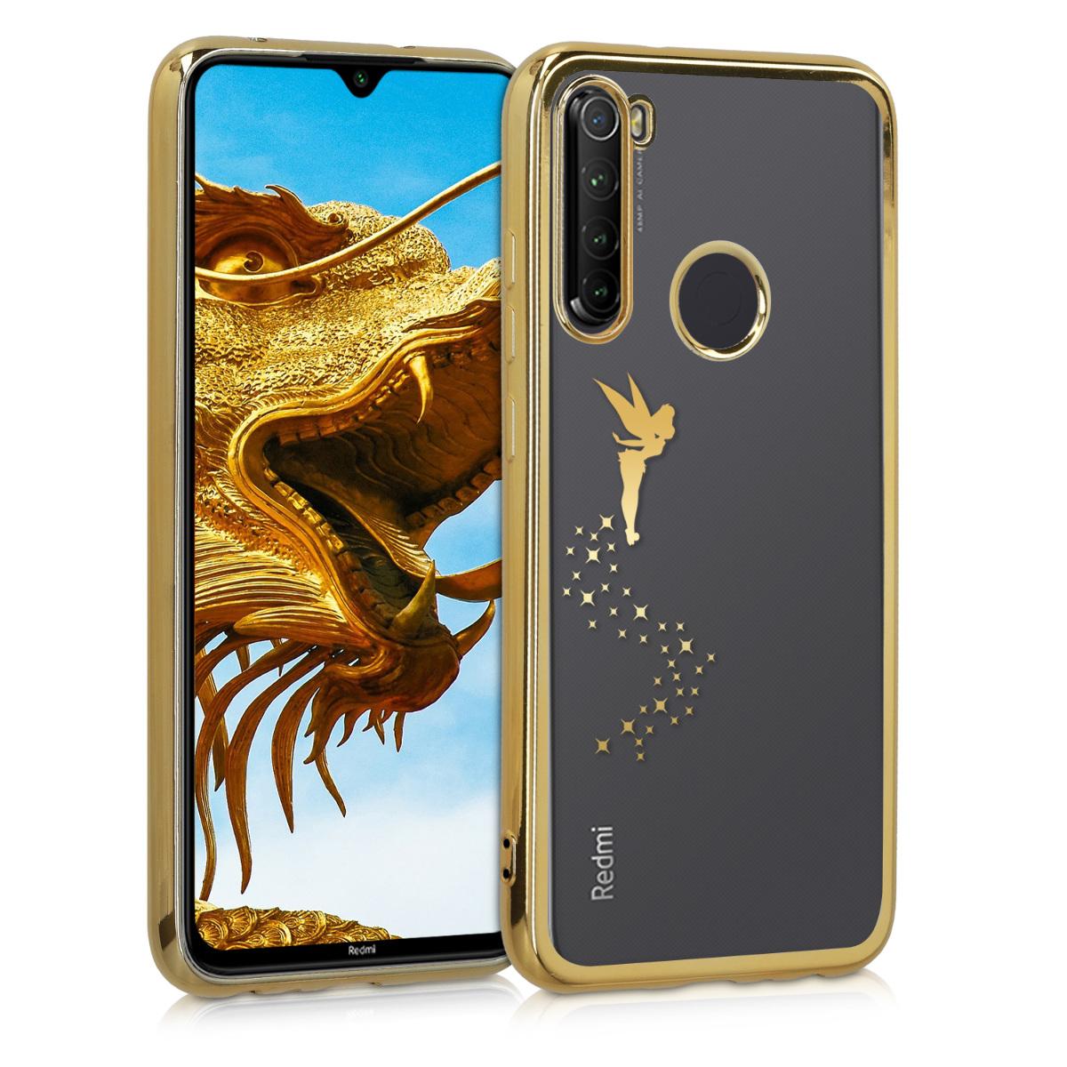 KW Θήκη Σιλικόνης Xiaomi Redmi Note 8 - Fairy Gold / Transparent (50991.01)