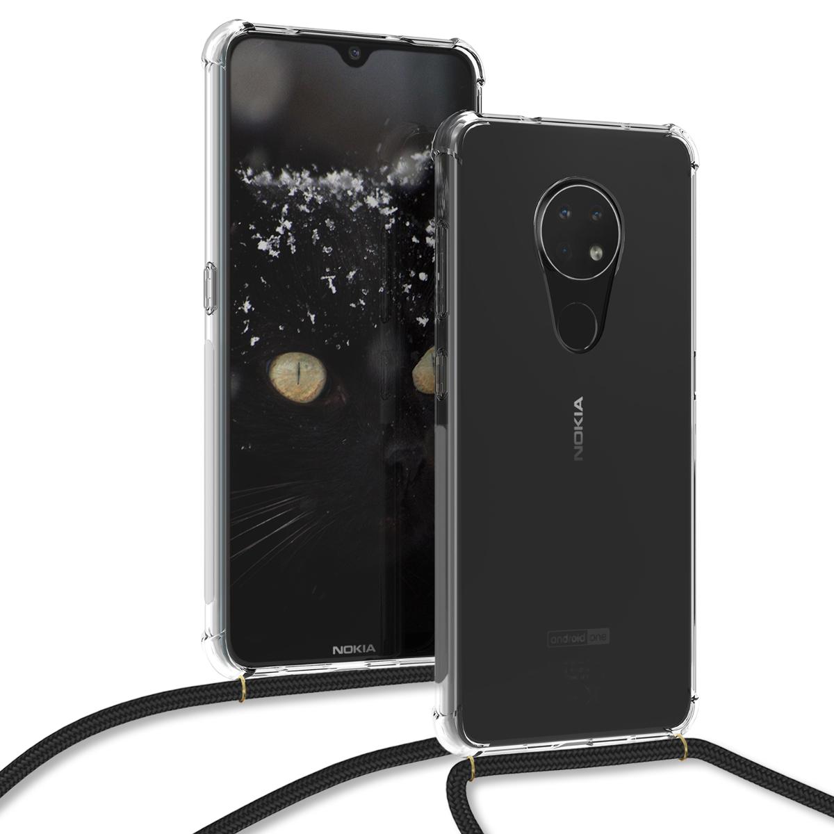 KW Θήκη Σιλικόνης με Λουράκι Λαιμού Nokia 6.2 - Transparent (51097.03)