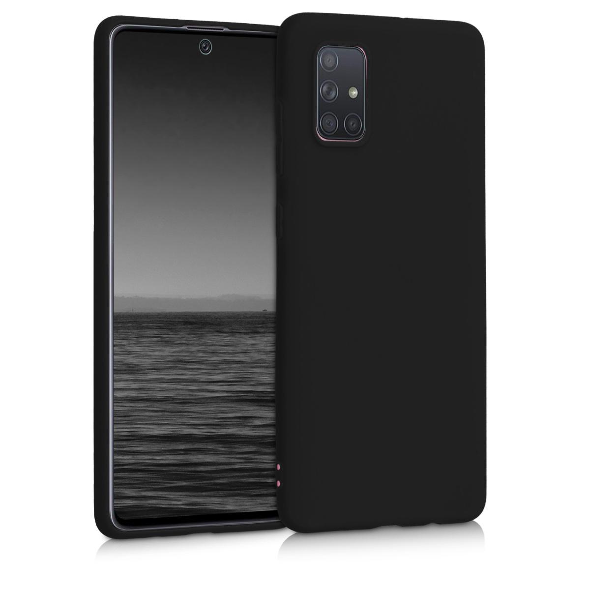 KW Θήκη Σιλικόνης Samsung Galaxy A71 - Black Matte (51208.47)