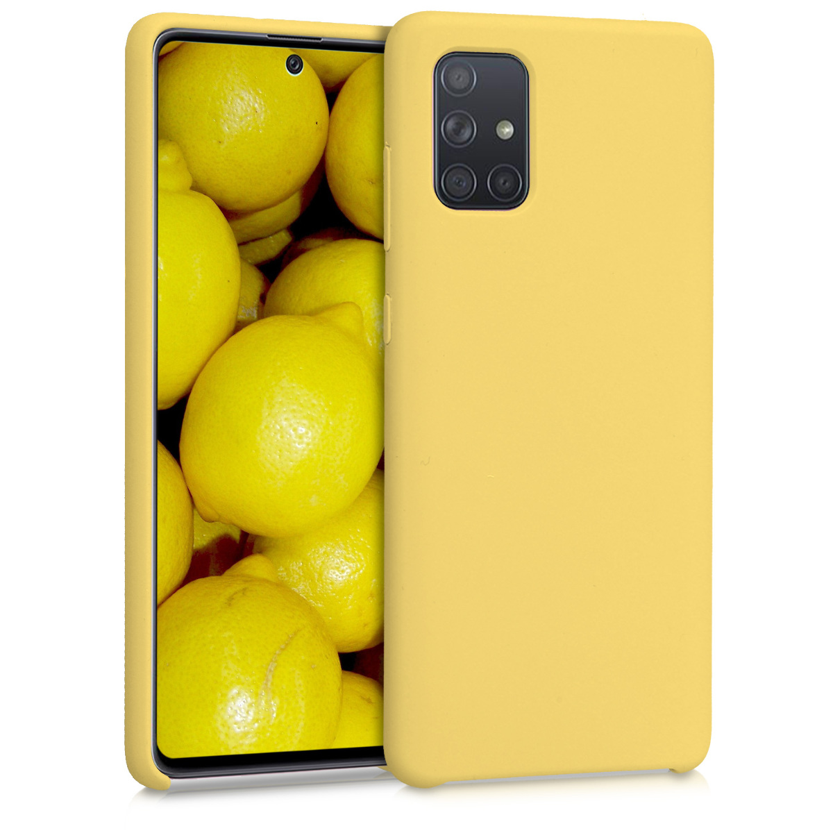 KW Θήκη Σιλικόνης Samsung Galaxy A71 - Soft Flexible Rubber Protective Cover - Yellow Matte (51209.49)