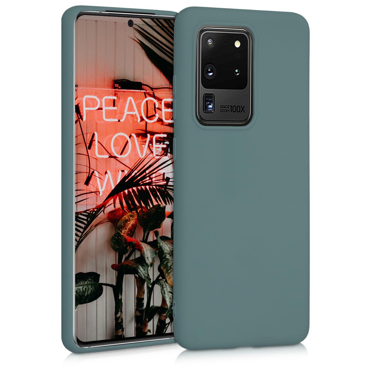 KW Θήκη Σιλικόνης Samsung Galaxy S20 Ultra - Blue Green (51225.171)