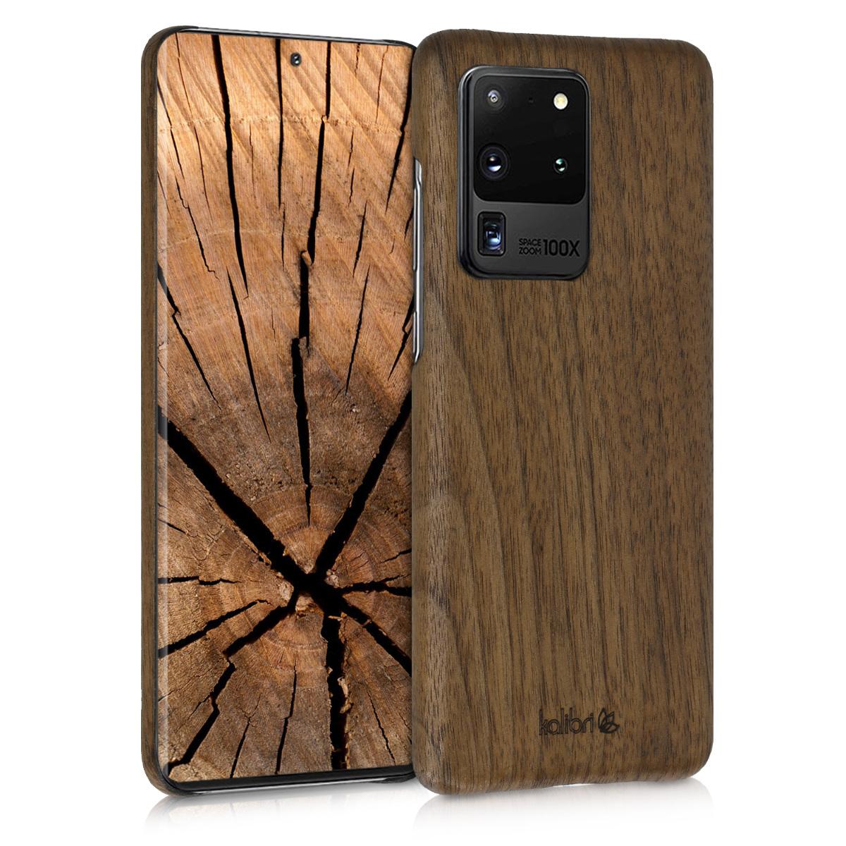 Kalibri Σκληρή Ξύλινη Θήκη Samsung Galaxy S20 Ultra - Dark Brown (51230.18)