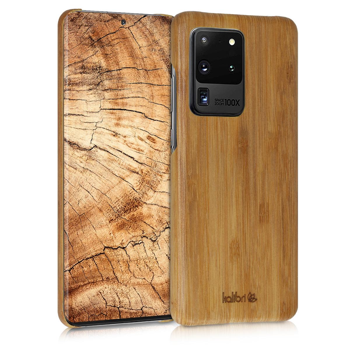 Kalibri Σκληρή Ξύλινη Θήκη Samsung Galaxy S20 Ultra - Light Brown (51230.24)