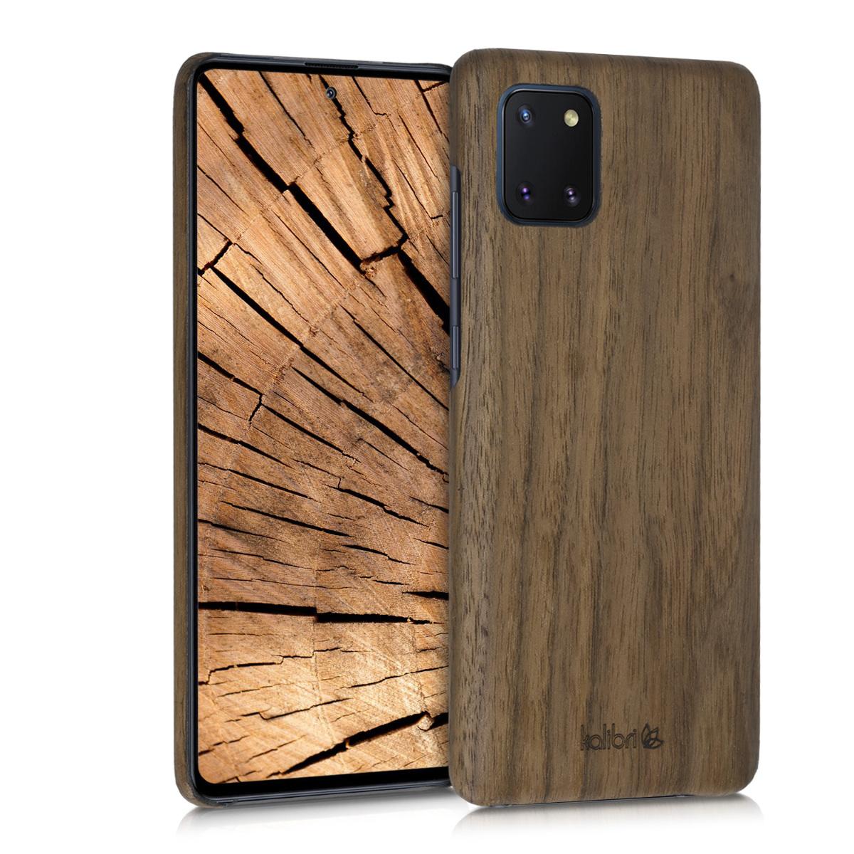 Kalibri Σκληρή Ξύλινη Θήκη Samsung Galaxy Note 10 Lite - Dark Brown (51415.18)